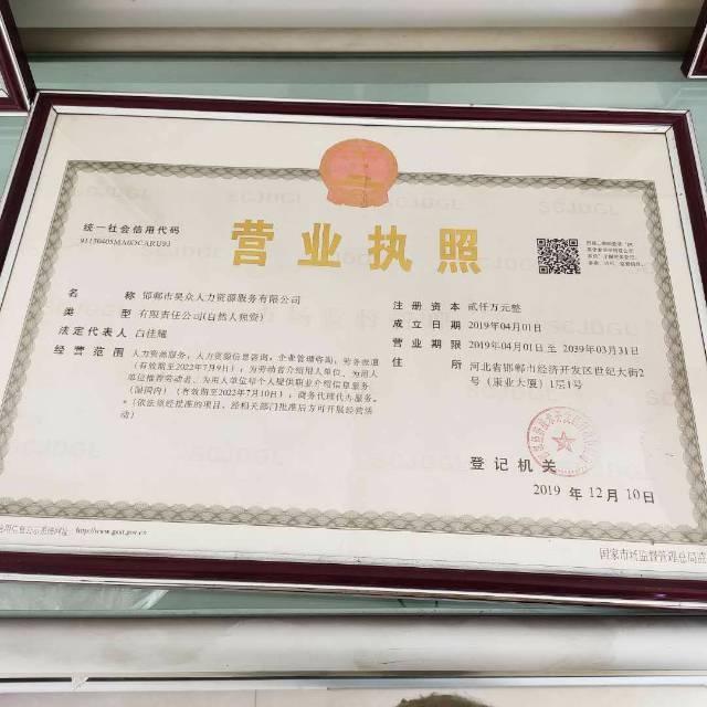 邯郸市昊众人力资源服务有限公司